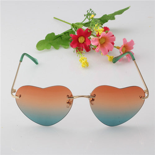 Heart Shape Ladies Sun Glass Reflective Lens