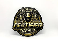 Certified Savage Die Cut Sticker