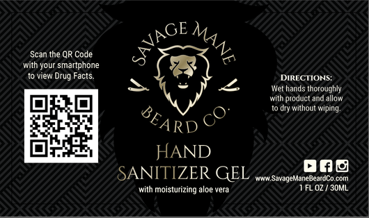 Hand Sanitizer Gel - Savage Mane Beard Co.