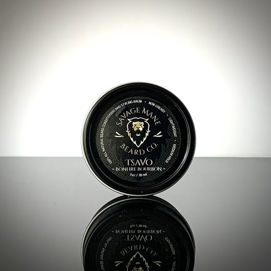 TSAVO Cub - Beard Balm - Bonfire Bourbon - Savage Mane Beard Co.