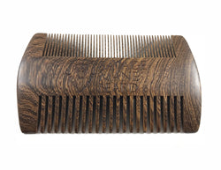 Two Sided Sandalwood Beard Comb - Savage Mane Beard Co.