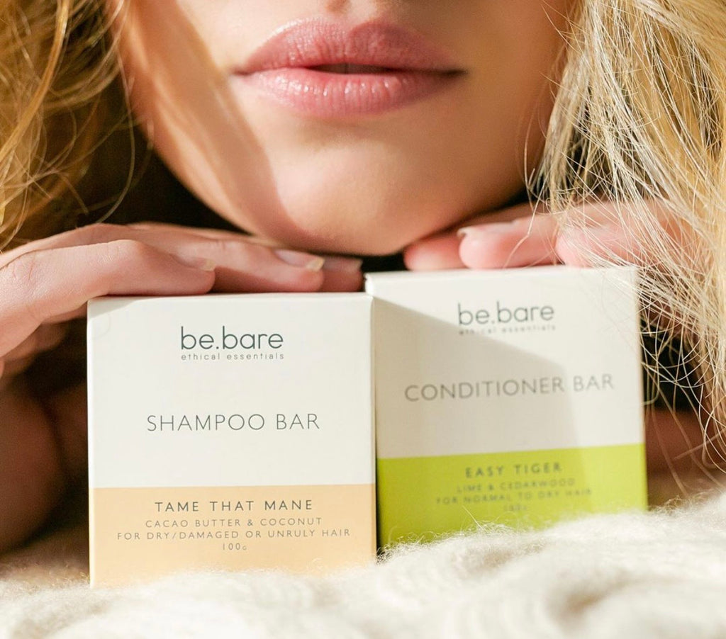 be.bare shampoo, conditioning & shaving bars