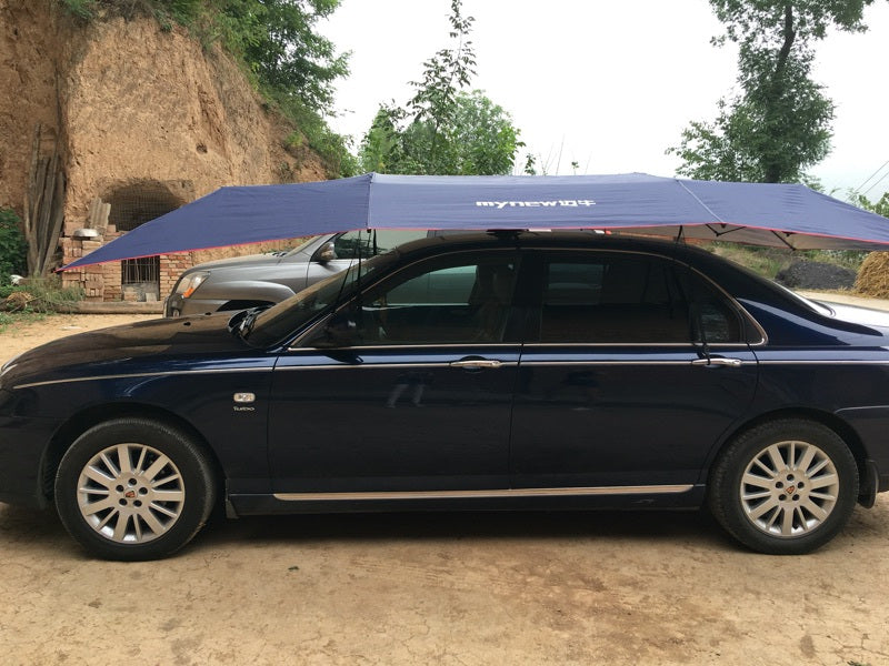 400cm x 210cm Portable Automatic Car Roof Umbrella with Remote Control