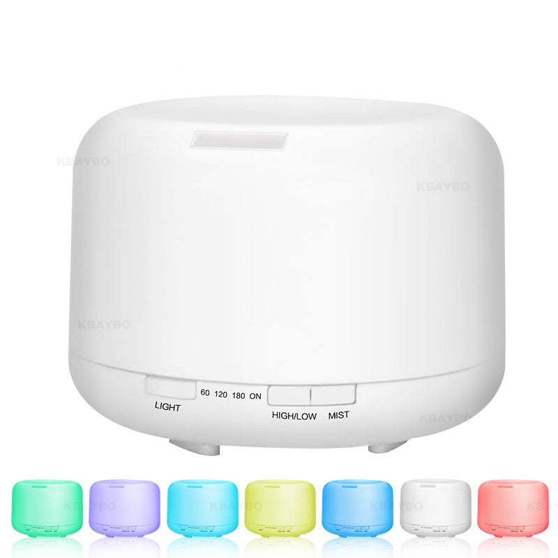 500ml Plug-In Round 7 Color LED Lights Essential Oil Ultrasonic Diffuser Humidifier