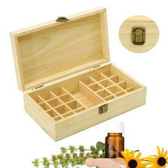 25 Slots Portable Essential Oil Wood Storage Box