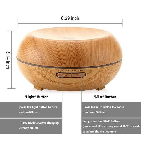 200ml Plug-In Flat Type Wood Grain Diffuser