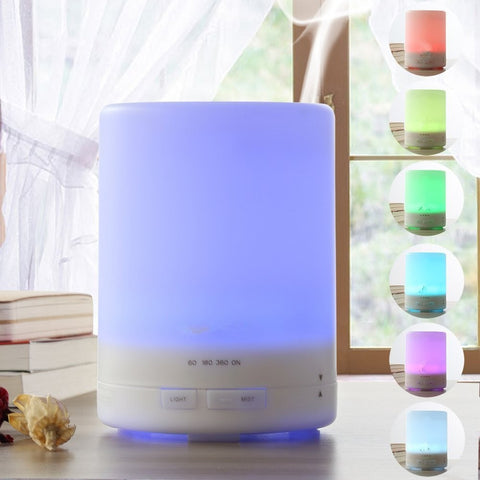 300ml Plug-In Upright 7 Color LED Lights Essential Oil Ultrasonic Diffuser Humidifier