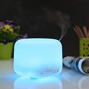 300ml Plug-In Round 7 Color LED Lights Essential Oil Ultrasonic Diffuser Humidifier