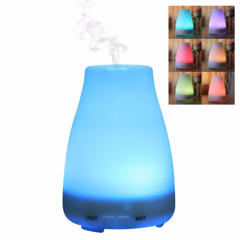 100ml Plug-In Cone Shaped 7 Color LED Lights Essential Oil Ultrasonic Diffuser Humidifier