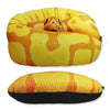 Image of 3D Snake Design Throw Pillow