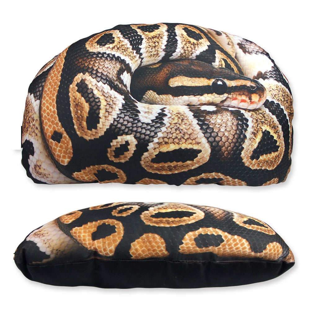 3D Snake Design Throw Pillow