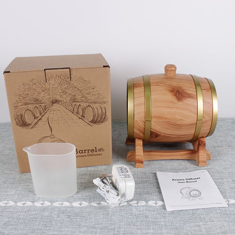 350ml Plug-In Wood Barrel Design Ultrasonic Diffuser