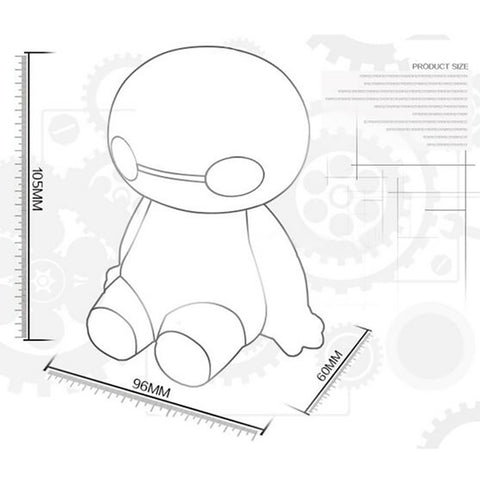 180ml USB Little Baymax Design Essential Oil Ultrasonic Diffuser Humidifier
