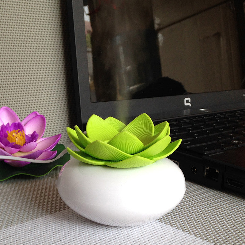 180ml USB Lotus Flower Design Essential Oil Ultrasonic Diffuser Humidifier