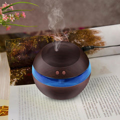 300ml USB Dark Wood Diffuser with Blue LED Light