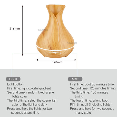 400ml Plug-In Tulip Style Wood Grain Diffuser - Buy 1 FREE 1