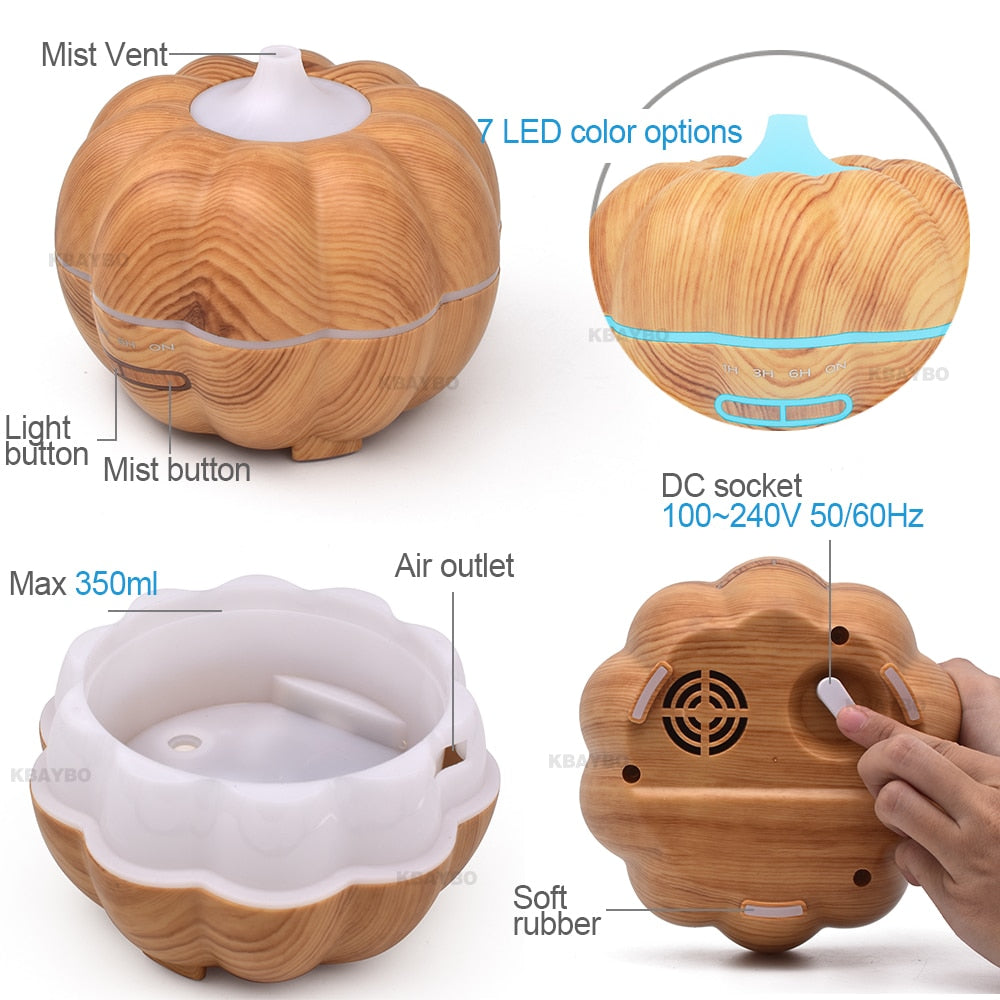 350ml Plug-In Bell Pepper Style Wood Grain Diffuser