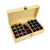 Image of 25 Slots Portable Essential Oil Wood Storage Box