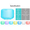 Image of 500ml Plug-In Round 7 Color LED Lights Essential Oil Ultrasonic Diffuser Humidifier