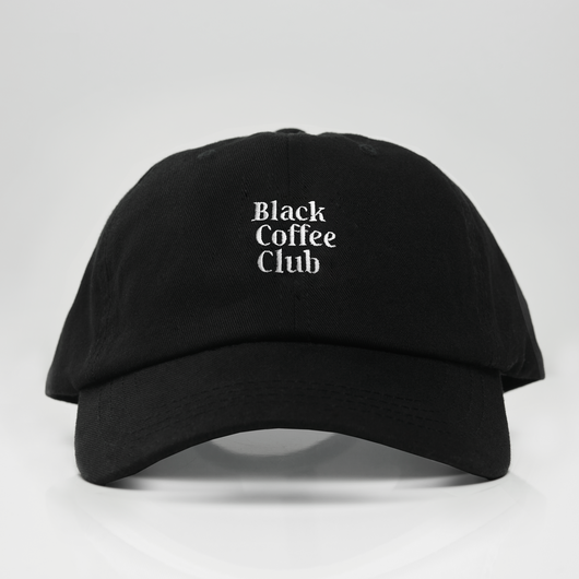 Black Coffee Club Dad Hat - Black