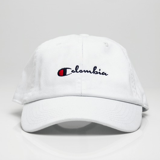 547c21a6af0f4 Colombia Champ Dad Hat - White