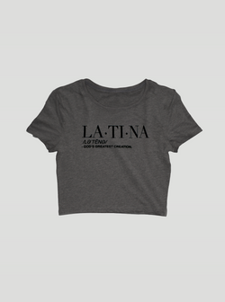 LATINA Ladies Crop top - Deep Heather