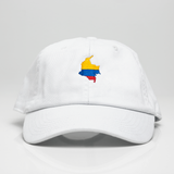 Colombia Dad Hat White