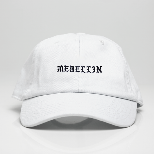 Medellin Dad Hat - White