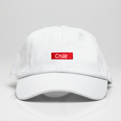 Chile Box Logo Dad Hat - White