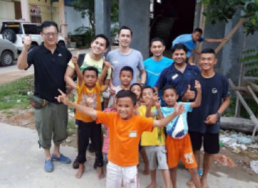 At Batam orphanage