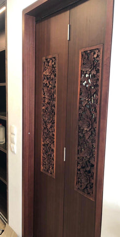 Suar wood door panels