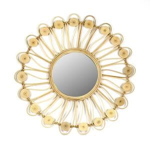 Beautiful hand-made rattan mirror for the festive season