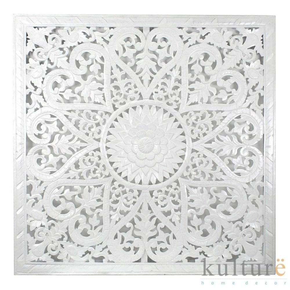 "Decorative Panel ""Jantung"" - White 110 cm"