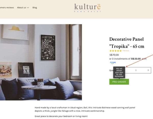 Delivery Kulture Home Decor