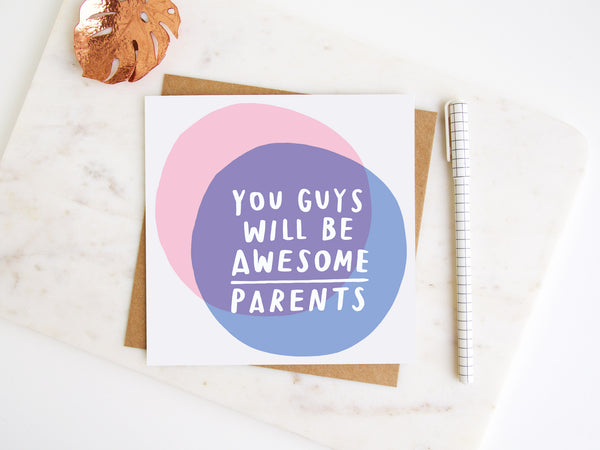 Awesome Parents Greetings Card