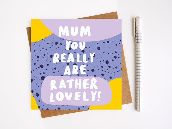 Lovely Mum Mothers Day Card