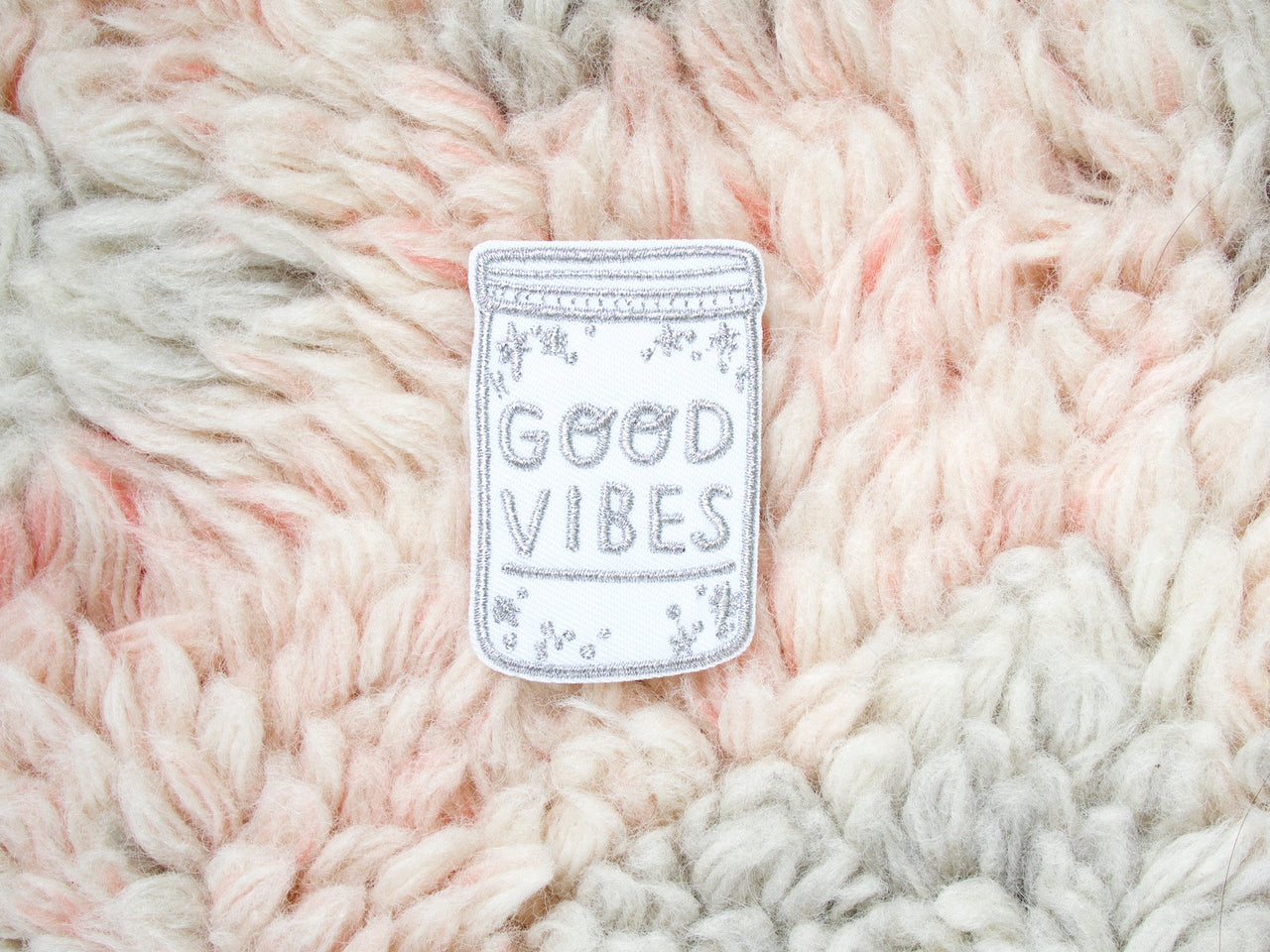 Metallic Good Vibes Iron-On Embroidered Patch