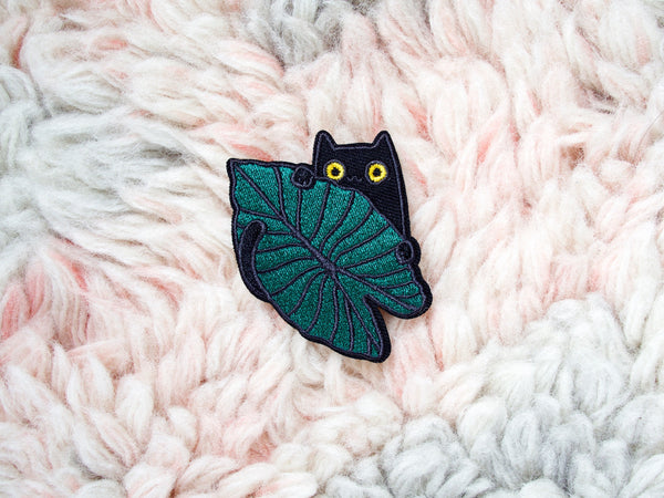 Jungle Kitty Iron-On Embroidered Chenille Patch