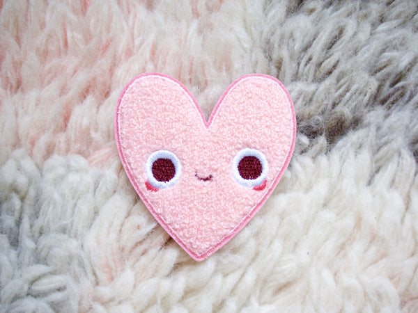 Heart Pal Iron-On Embroidered Chenille Patch