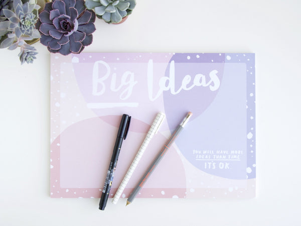A4 Big Ideas Desk Pad