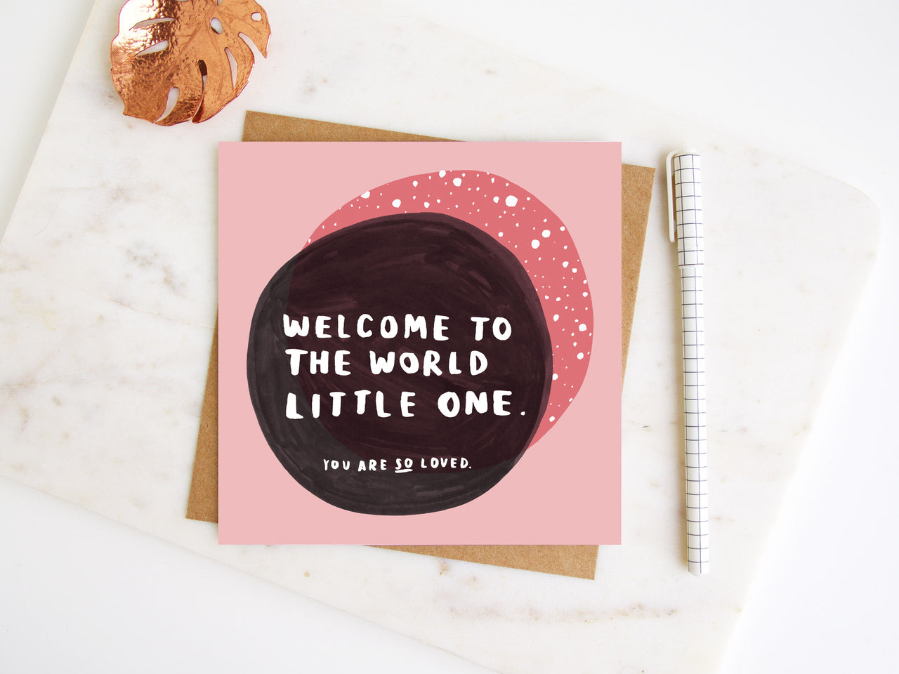 Welcome To The World Little One Greetings Card