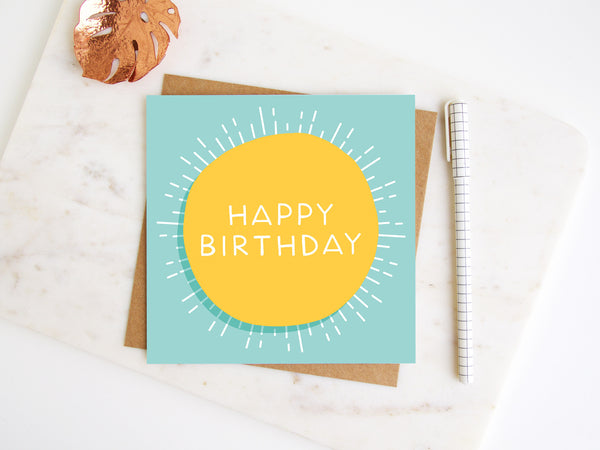 Happy Birthday Sunshine Greetings Card