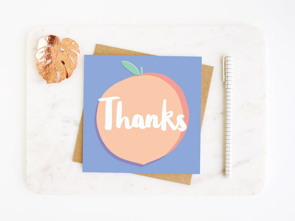 Thanks Peach Greetings Card