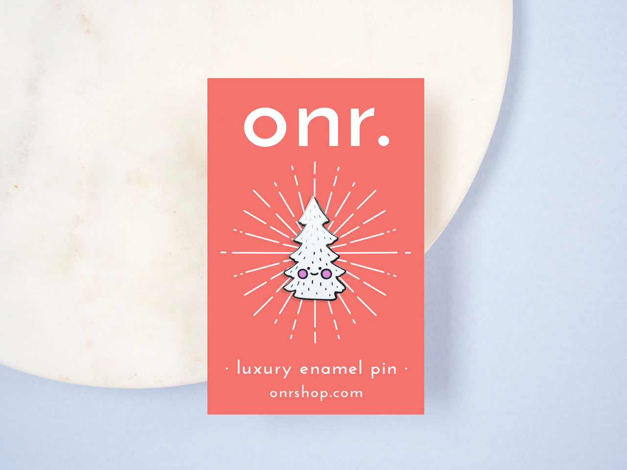 Happy Little Festive Tree Luxury Hard Enamel Pin