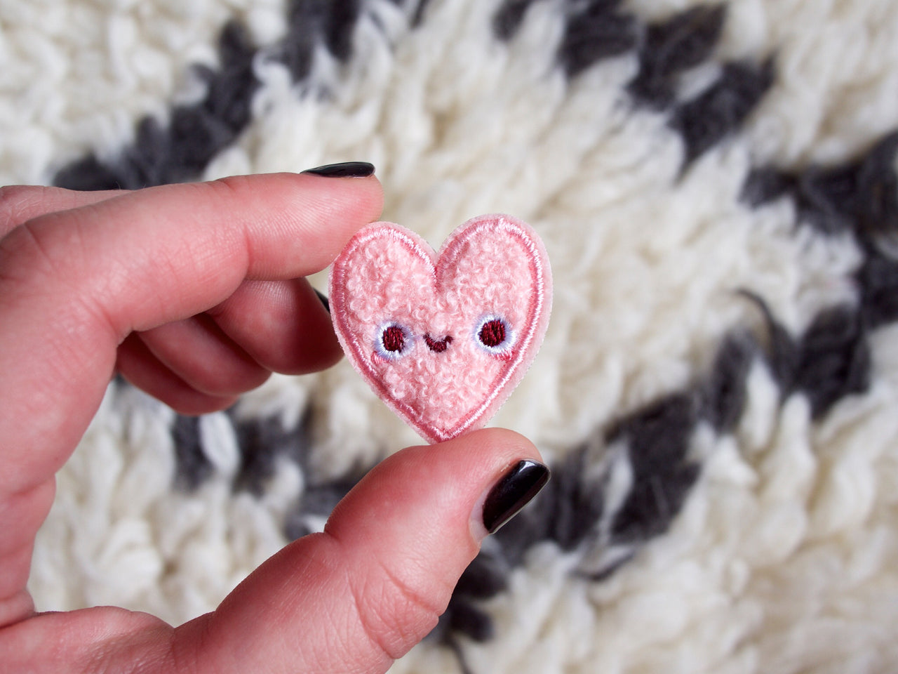 Mini Heart Pal Iron-On Embroidered Chenille Patch