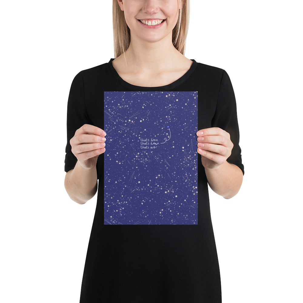 Carl Sagan Blue Dot // A4 GICLEE print