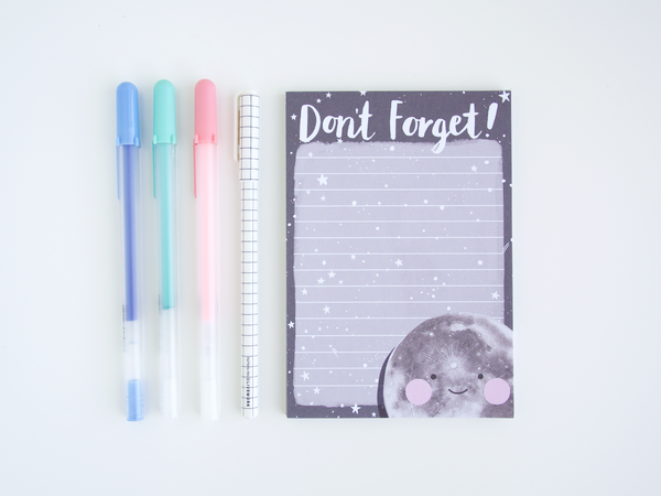 A6 Mini Moon Don't Forget Notepad