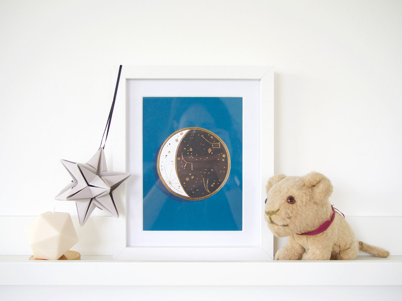Gold Foiled Moon Constellation Print