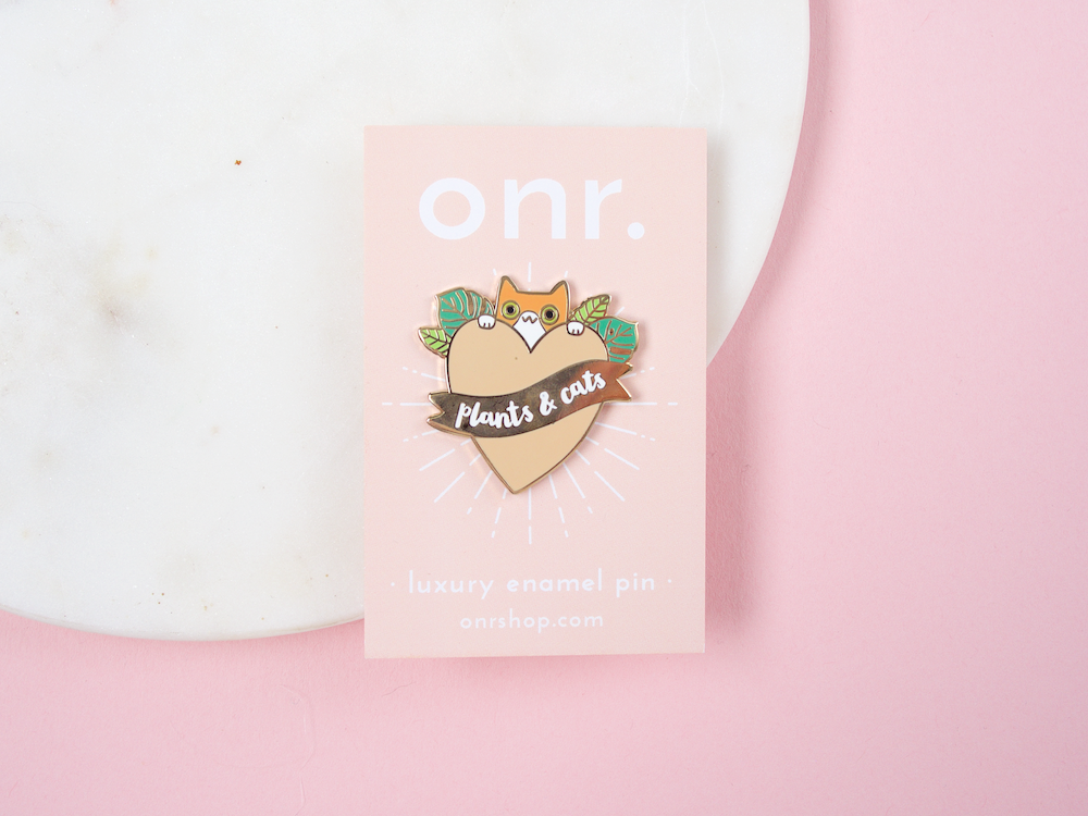 Plants & Cats Luxury Enamel Pin
