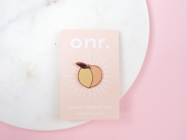 Feeling Peachy Luxury Enamel Pin